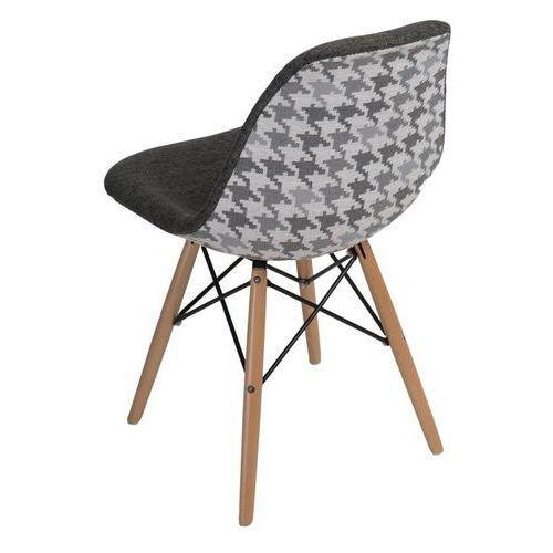 Krzesło P016W Pattern inspirowane DSW - szary (5902385722728)