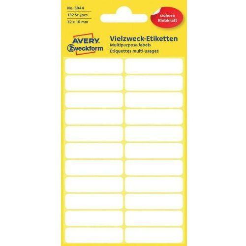 mini etykiety w arkuszach do opisywania ręcznego, 32 x 10mm, białe, 132 sztuki marki Avery zweckform