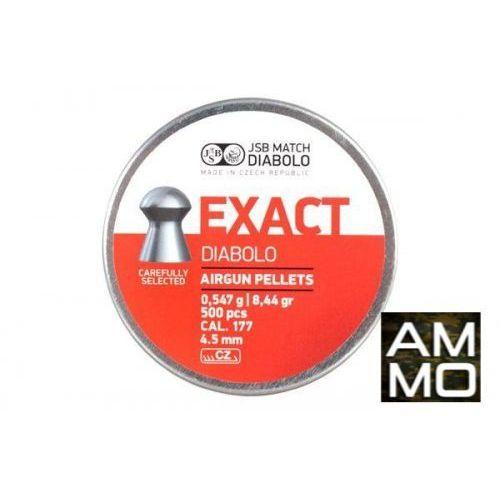 Śrut 4,5 mm Diabolo Exact półokrągły 500szt JSB, towar z kategorii: Amunicja do wiatrówek