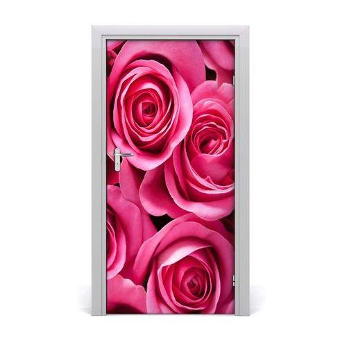 Naklejka samoprzylepna na drzwi ścianę Różowe róże