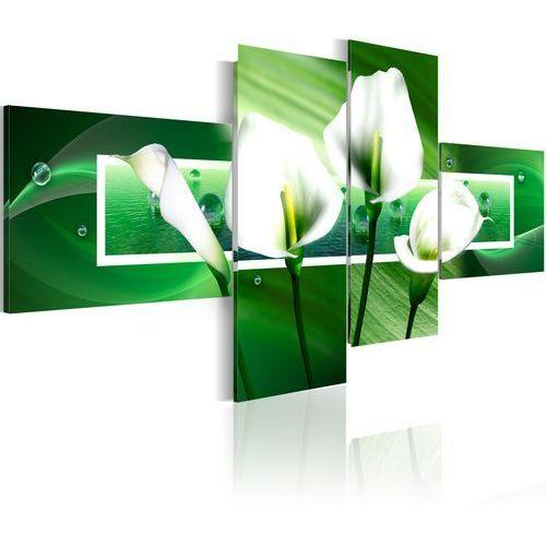 Obraz - zielone kalie marki Artgeist