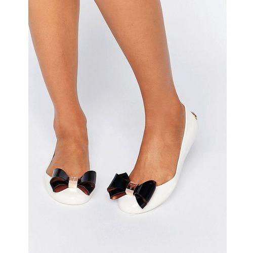 julivia bow cream ballet flat shoes - cream marki Ted baker