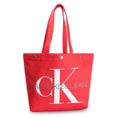 Torebka CALVIN KLEIN JEANS - Canvas Utility Ew Bottom Tote M K60K605310 631, kolor czerwony
