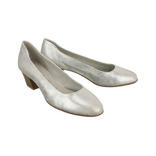 TAMARIS 22302-28 933 silver metall, czółenka damskie - Srebrny, kolor szary