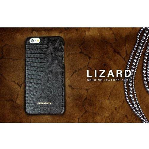 Bushbuck lizard leather case - etui skórzane do iphone 6s plus / iphone 6 plus (czarny) (6956261513596)