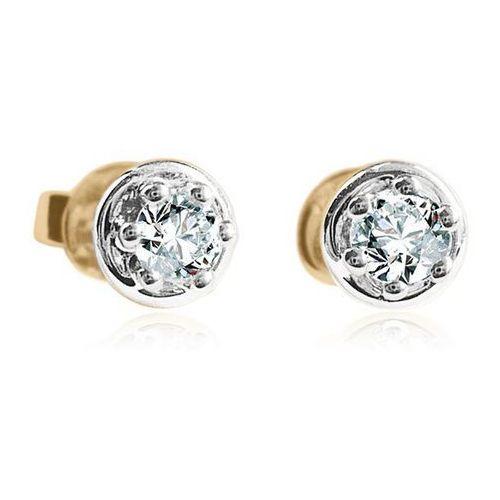 Złote kolczyki KXD1594 - Diament