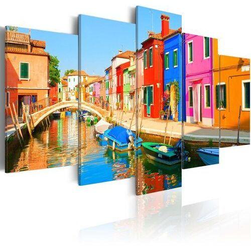 Artgeist Obraz - nadbrzeże w kolorach tęczy