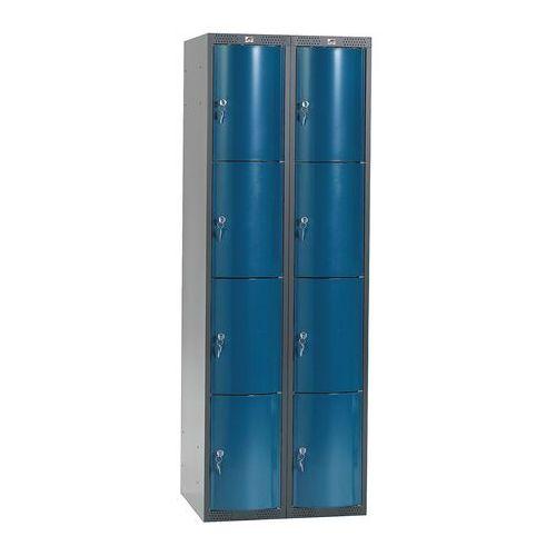 Ekskluzywne szafy osobiste 2x4 schowkim Kolor drzwi: Niebieski metalizowan