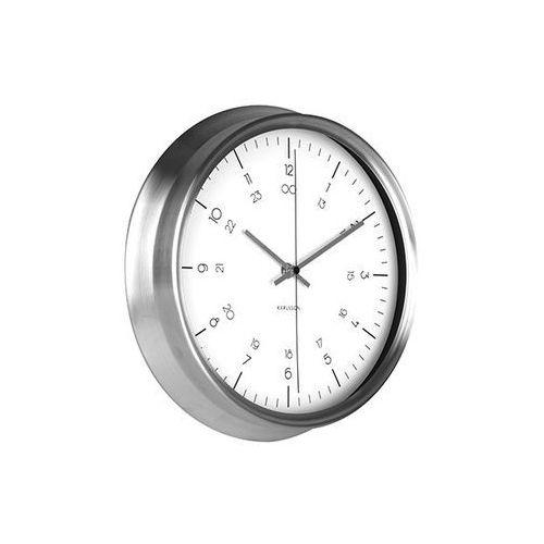 Zegar ścienny Nautical stainless steel white by Karlsson