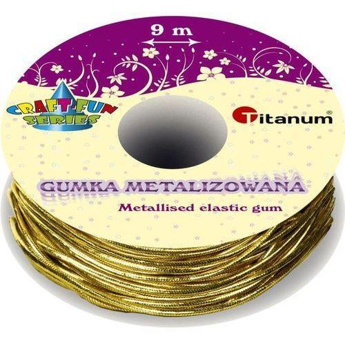 Titanum Sznurek elastyczny metalizowany 9m craft-fun - złoty (5907437694879)