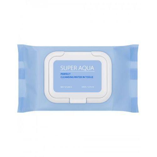 MISSHA Delikatne chusteczki do demakijażu, Super Aqua Perfect Cleansing Water In Tissue