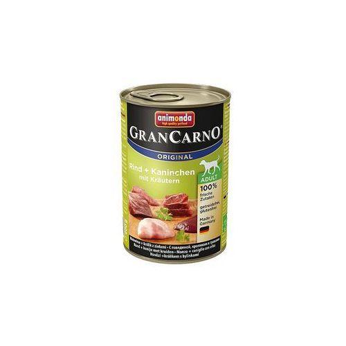 Animonda GranCarno Original Adult wołowina i królik z ziołami 400g (4017721827560)