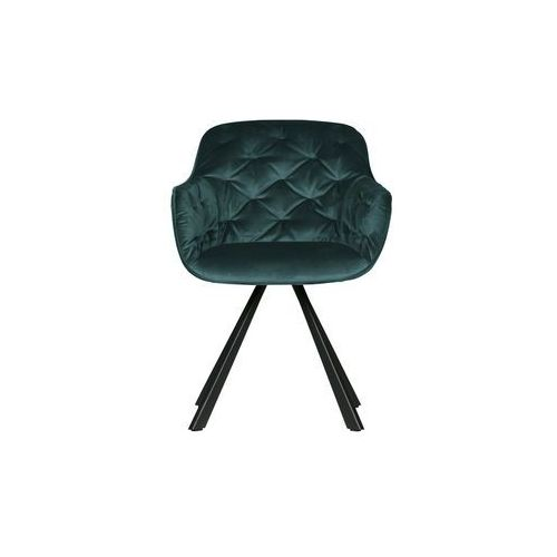 Woood krzesło do jadalni elaine aksamitne morskie 373621-d