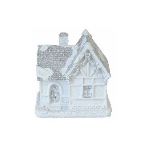 Tajemniczy ogród Domek podświetlany na baterie 7.5 cm biały ceramiczny (5903039410527)
