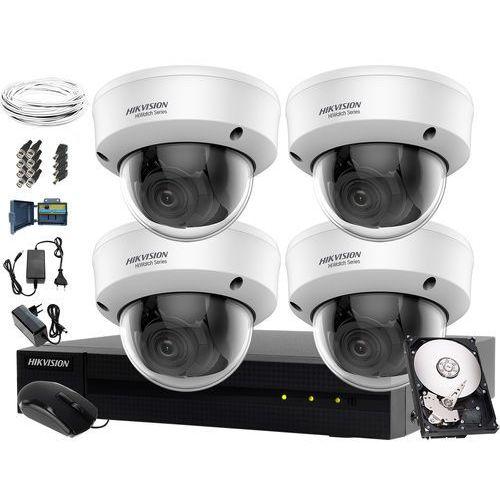Kompletny monitoring szoły, przedszkola Hikvision Hiwatch HWD-6108MH-G2, 4 x HWT-D320-VF, 1TB, Akcesoria