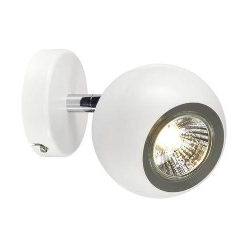 LIGHT EYE GU10 SINGLE lampa ścienna i sufitowa biała/chrom, GU10
