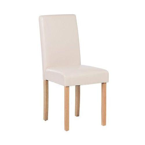 Krzesło do jadalni beżowe skóra ekologiczna broadway marki Beliani