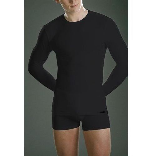 koszulka 214 długi rękaw plus czarny, Cornette