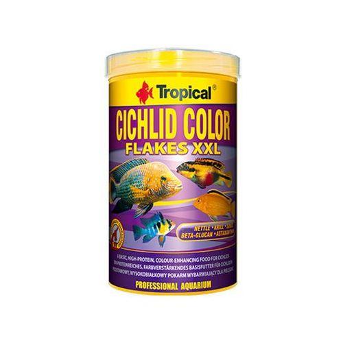Tropical  cichlid color flakes xxl - pokarm wybarwiający dla pielęgnic 1l/160g