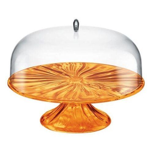 - aqua - patera na ciasto 33,40 cm, pomarańczowy marki Guzzini