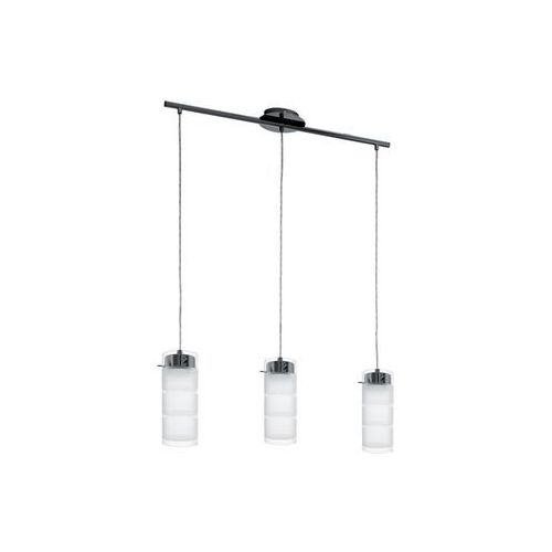 LAMPA wisząca OLVERO 93904 Eglo szklana OPRAWA listwa LED 21W tuba paski biała (9002759939045)