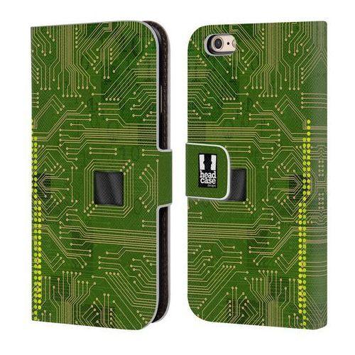 Etui portfel na telefon - Circuit Boards YELLOW GREEN