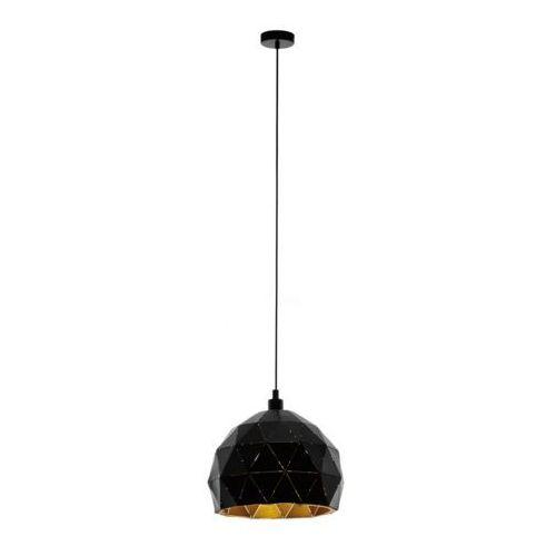 Lampa wisząca Eglo Roccaforte 97845 sufitowa 1x60W E27 czarna/złota, kolor Czarny