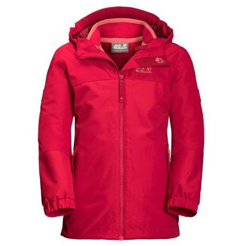 Jack wolfskin Kurtka 3w1 iceland 3in1 jacket girls (4055001637805)