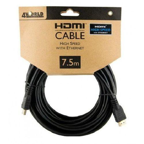 4world 4W Kabel HDMI High Speed z Ethernetem (v1.4), 7.5m