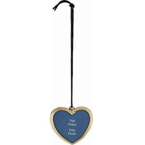 Rosendahl Dekoracja choinkowa karen blixen serce z miejscem na zdjęcie złote (5709513323136)