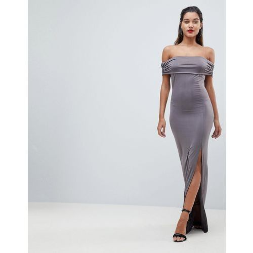 bardot maxi dress - grey marki Ax paris