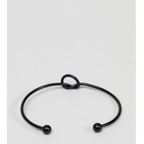 DesignB Knot Bracelet In Black Exclusive To ASOS - Black, kolor czarny