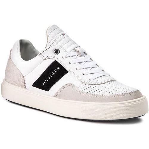 34831f569ca6b Tommy hilfiger Sneakersy - lightweight material mix low cut fm0fm01706 white  100
