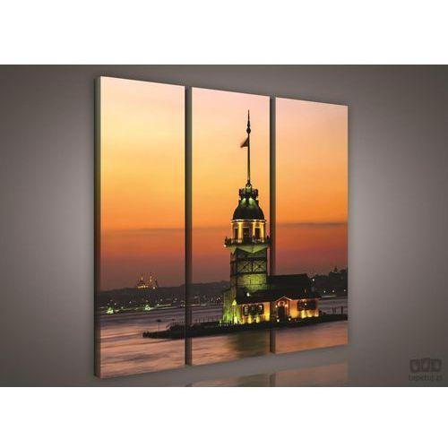 Consalnet Obraz latarnia morska o zachodzie słońca ps976s6