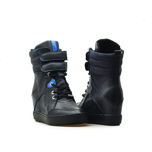 Sneakersy Simen 0401 Granatowe lico, kolor niebieski