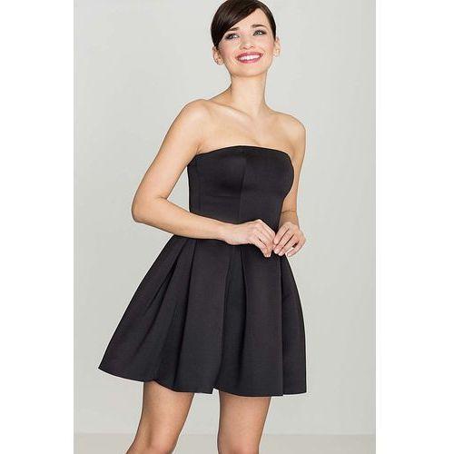 Czarna Wieczorowa sukienka Gorsetowa, Czarna