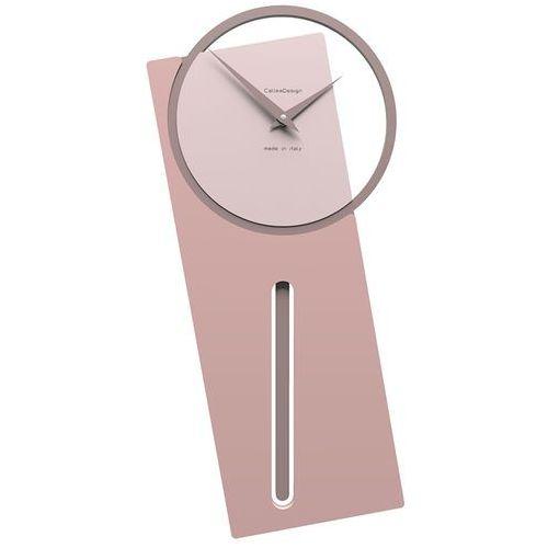 Zegar ścienny z wahadłem sherlock antyczny-różowy (11-005-32) marki Calleadesign
