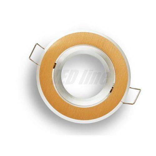 Oprawa halogenowa sufitowa okrągła ruchoma, aluminium - złota szczotkowana marki Led line