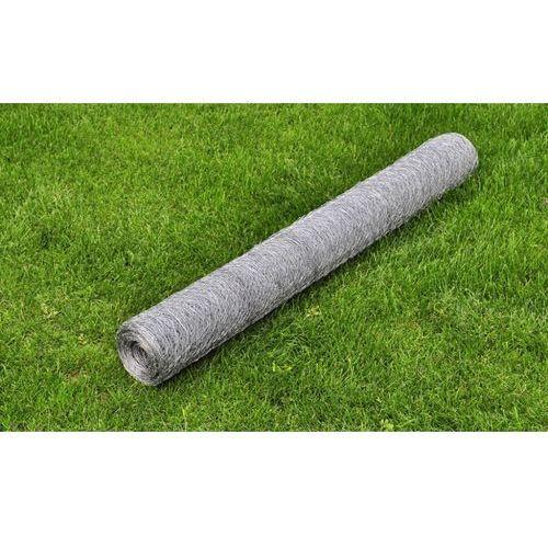 vidaXL Siatka ogrodzeniowa ocynkowana 50 cm x 25 m 0,75mm - produkt z kategorii- Przęsła i elementy ogrodzenia