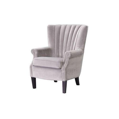 Dekoria fotel scarlett velvet light grey 78x83x101cm, 80 × 83 × 101 cm