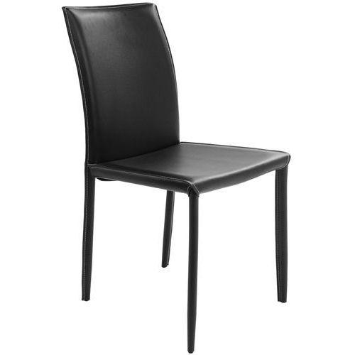 Kare design :: krzesło skórzane milano black - czarne ||czarny matowy