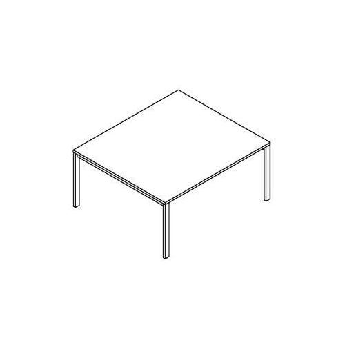 Stół konferencyjny BSA124 (stelaż metalowy) wymiary: 160x140x75,8 cm, BSA124