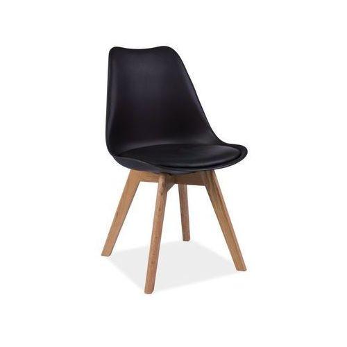 Krzesło Kris Dąb Czarny, kolor czarny
