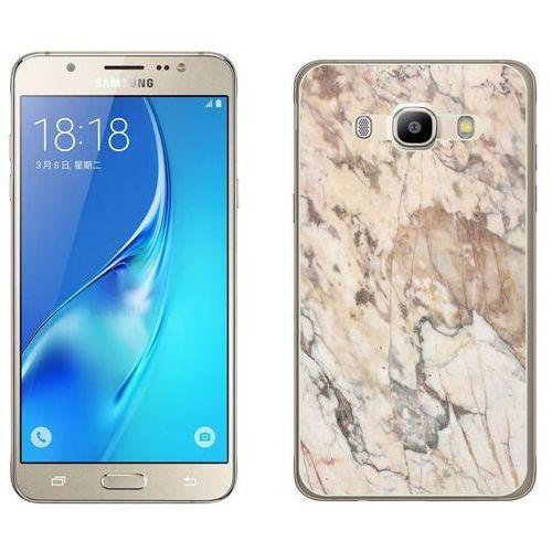 Samsung Galaxy J5 2016 - etui na telefon - Kolekcja marmur - marble beż - H19