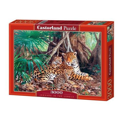 Puzzle 3000 Jaguars in the jungle (5904438300280)