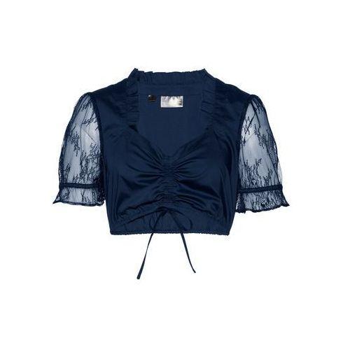 Bluzka shirtowa w kropki bonprix czarno-biały w kropki, bawełna