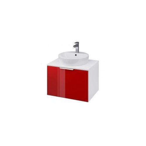 CERSANIT szafka Stillo 60 biała/czerwona pod umywalkę nablatową S575-008, S575-008