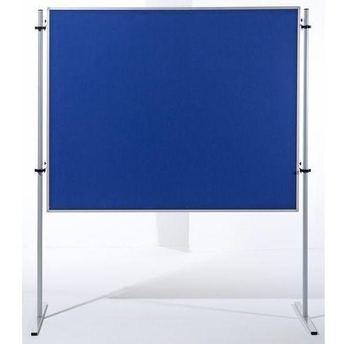 Ścianka funkcyjna, wys. x szer. 1500x1200 mm, pokrycie błękitną tkaniną, opak. 2