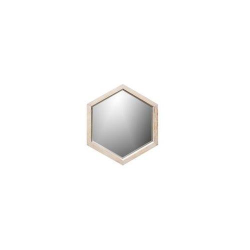 Woood Lustro heksagon drewniane małe - Woood 370111-N, 370111-N
