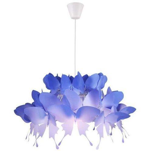 Light prestige Lampa wisząca farfalla lp-3439/1p blue dekoracyjna oprawa dziecięcy zwis motyle niebieskie